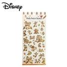【日本正版】奇奇蒂蒂 素描貼紙 日本製 貼紙 手帳貼 燙金貼紙 迪士尼 Disney - 289372