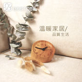 【BESTECK】ZAKKA風原木靜音鐘-圓形