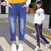 兒童裝童褲女童牛仔褲寶寶長褲子