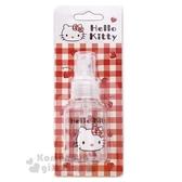 〔小禮堂﹞Hello Kitty 噴霧式空瓶《紅.愛心.大臉.格子》50ml.空罐.分裝瓶罐 5712977-46174