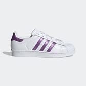 Adidas Superstar W [EE9152] 女鞋 運動 休閒 經典 街頭 百搭 必備 愛迪達 白 紫