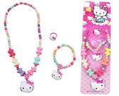 ~卡漫城~Hello Kitty 兒童飾品三件組蝴蝶結顏色 ㊣版 手鍊戒指項鍊項鏈手環首飾