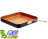 [8美國直購] 不沾鍋烤盤 Gotham Steel 10.5吋  Non-Stick Grill Pan with Ti-Cerama Copper Surface B01FGDT3FI