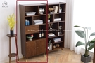 【新竹清祥傢俱】NSF-55SF01-現代北歐全實木置物櫃 書櫃 (有門款) 全實木 日系 書房 開放櫃