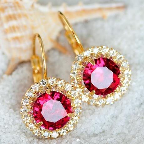 蕊珠 水晶耳環