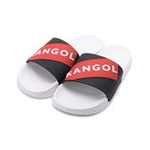 KANGOL 袋鼠 立體LOGO運動拖鞋 黑紅 6025220124 男鞋