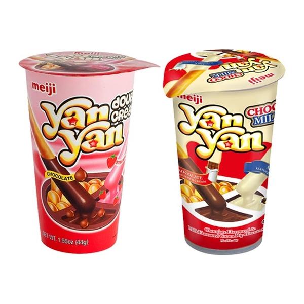 Meiji 明治 雙醬洋洋棒餅乾(44g) 兩款可選【小三美日】進口 / 團購 / 零嘴