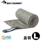 【Sea To Summit澳洲 口袋型抗 菌快乾毛巾 L《盒裝/灰》】STSAABPOCT/吸水毛巾/速乾毛巾