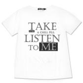Black & White Voice T-shirt-聽我說(White)