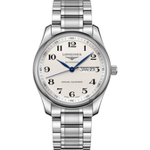 LONGINES 浪琴 Master 巨擘系列機械錶-銀/40mm L29104786
