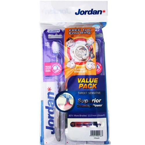 Jordan超纖細敏感型牙刷促銷包(超軟毛)3入【愛買】