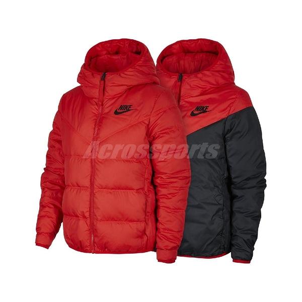Nike 外套 NSW Windrunner Down-Fill Jacket 紅 黑 女款 羽絨外套 雙面穿 【ACS】 939439-657