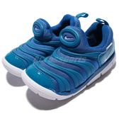 Nike 毛毛蟲鞋 Dynamo Free TD 藍 白 慢跑鞋 嬰兒鞋 學步鞋 小童鞋【PUMP306】 343938-419