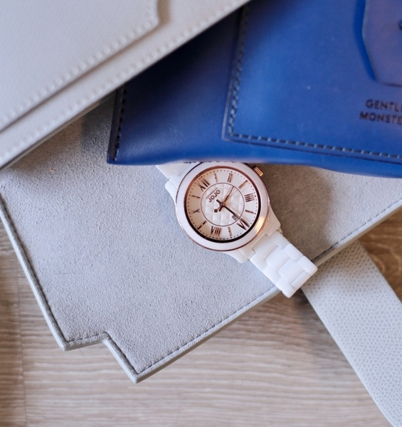 NATURALLY JOJO 陶瓷 菱格 女錶 (JO96947-80R) 白/36mm