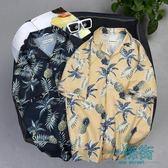 【618好康又一發】夏季五分袖襯衫男寬松沙灘花襯衣