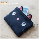 化妝包~Le Baobab日系貓咪包 傻氣啵啵貓化妝包/護照夾/收納袋/拼布包包