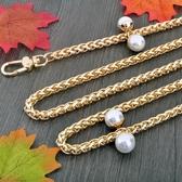 8mm粗直金色珍珠燈籠錬包包錬子包帶包包錬條配件金屬包錬包帶子  可然精品