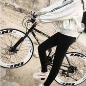 成人變速死飛自行車男單車公路賽車雙碟剎實心胎細胎學生女熒光 igo 韓姐姐