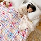 冬季雙層毛毯被子加厚毛巾被珊瑚羊羔絨毯子午睡兒童可愛卡通蓋毯 夢幻小鎮ATT
