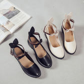 女韓版百搭小皮鞋英倫風娃娃鞋平底「巴黎街頭」