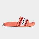 Adidas FARM Rio Adilette Comfort 女 粉橘 運動 拖鞋 EG1865