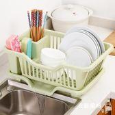 碗箱廚房碗櫃塑料北歐瀝水碗架裝碗筷收納箱放碗盤餐具收納盒置物架子 耶誕交換禮物