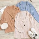 MUMU【C61086】單扣薄款口袋西裝外套。四色