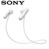 【公司貨-非平輸】【IPX4防潑水款】SONY 無線藍牙運動式耳麥 WI-SP500-W 白