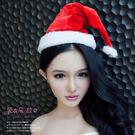 D017 紅色絨布聖誕帽