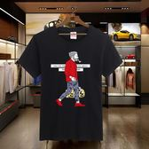 男士季新款短袖T恤圓領套頭寬鬆加肥加大碼中青年胖子超大號上衣 酷男精品館