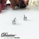 耳環 現貨 專櫃CZ鑽氣質微鑲唯美四爪3MM單鑽八心八箭水晶耳環Y1191 批發價 Danica 韓系飾品