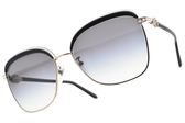 BVLGARI 太陽眼鏡 BG6112B 2014-8G (透灰金-漸層藍鏡片) 復古年代造型款 墨鏡 # 金橘眼鏡