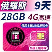 【TPHONE上網專家】俄羅斯 9天28GB超大流量高速上網 當地原裝卡 贈送當地通話