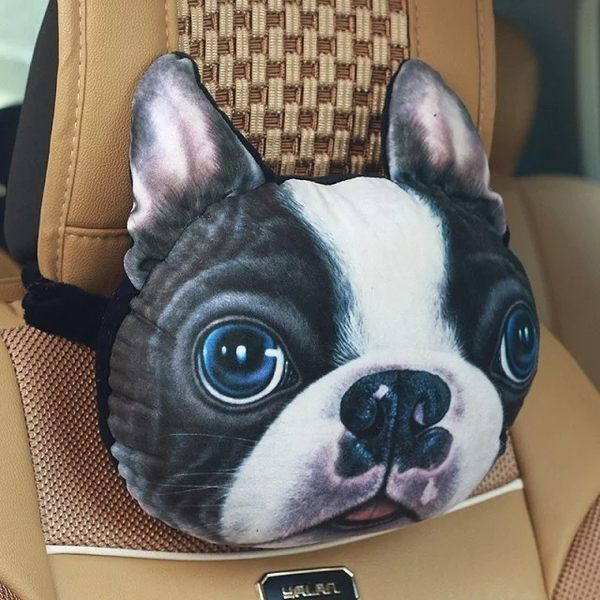 3D動物車用頸枕 汪星人車用頸枕含活性碳包毛絨玩具玩偶-UN SHOP【001】