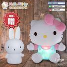 【加贈桌遊+可愛兔矽膠套】Hello Kitty幼兒安撫絨毛音樂啟蒙故事機,一機可換兩款造型(IDO1019)