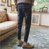 牛仔褲男修身韓版潮流小腳彈力牛仔褲