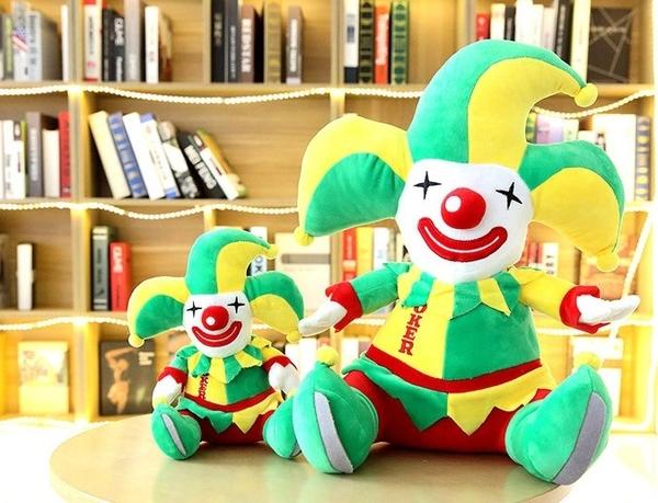 【28公分】卡通馬戲團小丑玩偶 絨毛娃娃 聖誕節交換禮物 商店布置 耶誕節裝飾 節慶商品