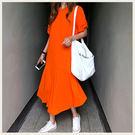 ✦Styleon✦正韓。夏日涼爽素色短袖洋裝長洋裝。韓國連線。韓國空運。0801。