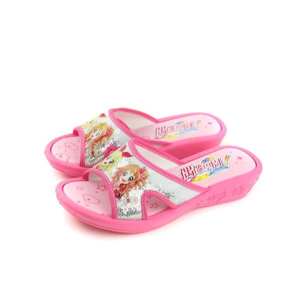 偶像學園 涼鞋 拖鞋式 粉紅色 中童 童鞋 ID0719 no733