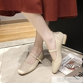 2020秋季新款復古奶奶鞋粗跟瑪麗珍女鞋豆豆鞋低跟單鞋配裙子的鞋 牛轉好運到