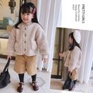 兒童外套秋冬新款女童兒童韓范羊羔毛加厚保暖棉衣外套 限時特惠