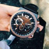 POLICE義大利國際品牌潮流型男計時腕錶/咖啡色15529JSU-02原廠公司貨