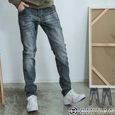 韓國製潑漆刷痕牛仔長褲【BHB036】OBIYUAN 獨家專櫃高規復古刷色丹寧褲 共1色