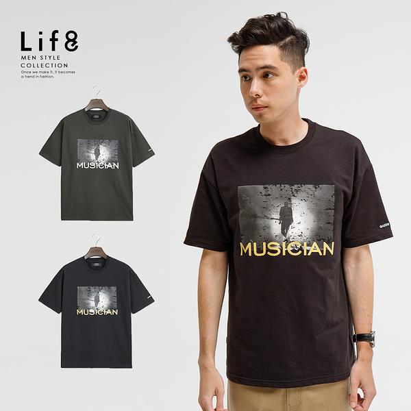 Life8-Casual 設計款 Musician 圓領上衣-10263