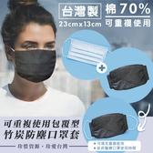 生活小物 重複使用包覆型竹炭防塵口罩套 *4入組