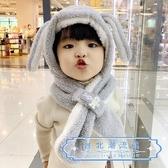 兒童帽 秋冬男女兒童帽子1可愛兒童帽子加厚 帽子護耳圍巾圍脖一體3歲