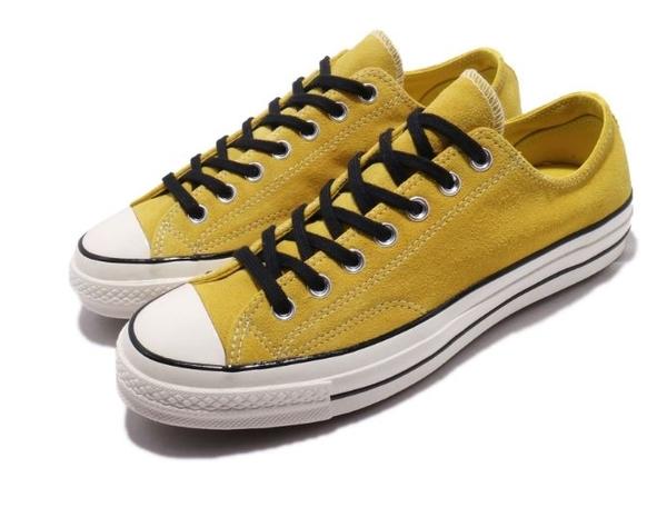 Converse 低筒休閒鞋 中性鞋 帆布鞋 黃色麂皮 ALL STAR NO.163760C