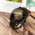 FOSSIL美國品牌Commuter系列鏤空機械紳士腕錶ME3158原廠公司貨