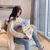 針織外套 韓系秋小清新V領寬鬆毛衣 花漾小姐【預購】
