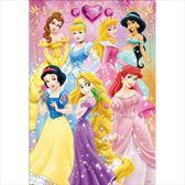 【拼圖總動員 PUZZLE STORY】迪士尼公主 日本進口拼圖/Tenyo/迪士尼/96P/兒童